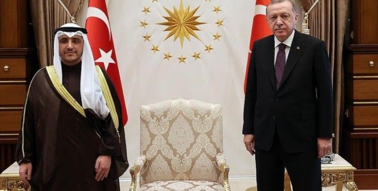 Cumhurbaşkanı Erdoğan, Kuveyt Dışişleri Bakanı El-Sabah'ı kabul etti