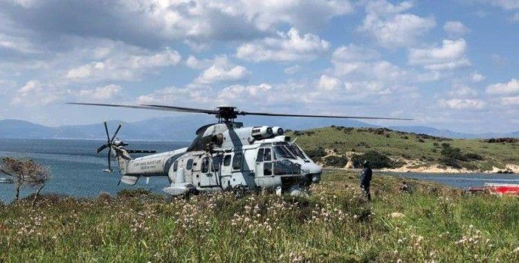 Düşen askeri eğitim uçağında sağ kurtulan pilotlar hastaneye sevk edildi
