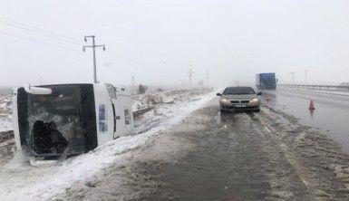 Konya'da 2 tur otobüsü kaza yaptı