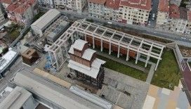 Kadıköy'de restore edilen tarihi Hasanpaşa Gazhanesinin son hali havadan görüntülendi