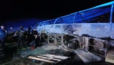 Mısır'da yolcu otobüsü devrildi