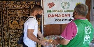 İHH'dan Kolombiya'da ihtiyaç sahiplerine ramazan kumanyası yardımı