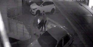 Kömür sobası hırsızları kamerada