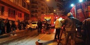 Küçükçekmece'de yangın paniği: Bina tahliye edildi