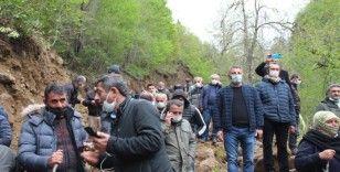 Rize'de taş ocağı gerginliği sürüyor: Yöre halkı başlayan çalışmaları yeniden durdurdu