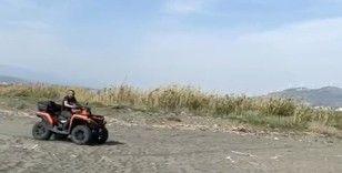Hatay'daki ATV kazası kamerada