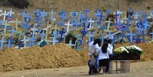 Brezilya'da son 24 saatte Kovid-19 nedeniyle 3 bin 163 kişi hayatını kaybetti