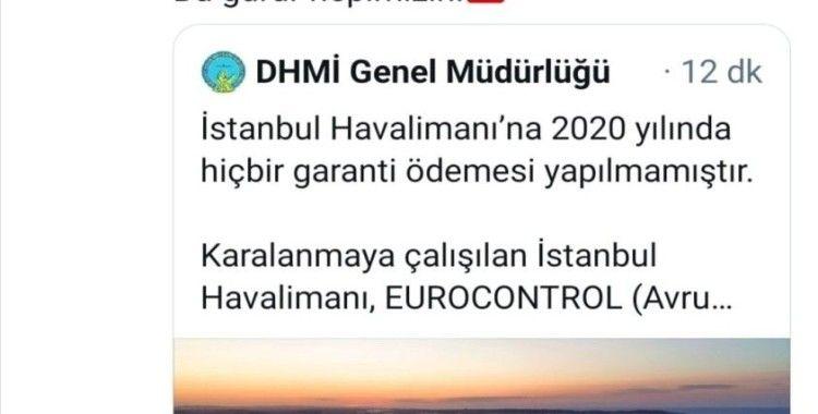 Ulaştırma ve Altyapı Bakanı Adil Karaismailoğlu'ndan İstanbul Havalimanı paylaşımı