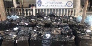 İzmir'de 2 milyon 420 bin adet bandrolsüz makaron ele geçirildi
