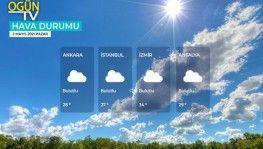Yarın kara ve denizlerimizde hava nasıl olacak? 2 Mayıs 2021 Pazar