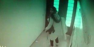 Teknolojik alet hırsızı kadın kamerada