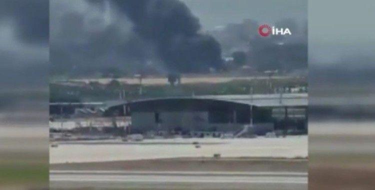 İsrail'de Ben Gurion Uluslararası Havaalanı yakınlarında yangın