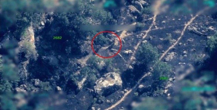 Pençe-Şimşek ve Pençe-Yıldırım operasyonlarında teröristlerin kullandığı sığınak ve mühimmat imha edildi