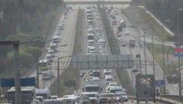 E-5'te sabah saatlerinde trafik yoğunluğu