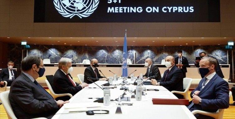 Cenevre'de 5+1 gayriresmi Kıbrıs konferansına KKTC Cumhurbaşkanı Tatar'ın sunduğu 6 maddelik öneri damga vurdu