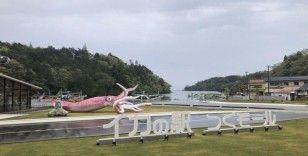 Japonya'da Covid-19 yardım fonu ile 'kalamar heykeli' inşa edildi