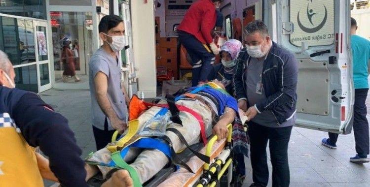 Mermer ocağında greyder lastiği patladı: 3 yaralı