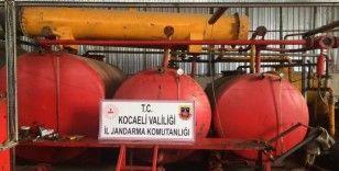 Kocaeli'de 6 bin litre kaçak akaryakıt ele geçirildi