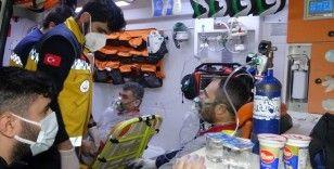 kauçuk fabrikasında korkutan yangın: 6 işçi hastaneye kaldırıldı