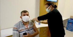 Trakya'da muhtarların Kovid-19 aşılama çalışmaları devam ediyor