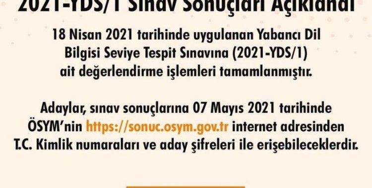 2021-YDS/1 sonuçları açıklandı