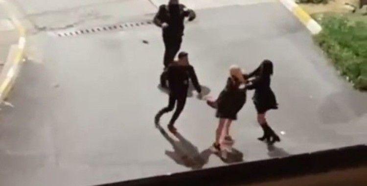 Kadınların saç baş kavgası kamerada