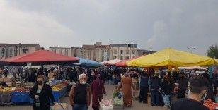 Bursa'da pazar yerleri havadan görüntülendi