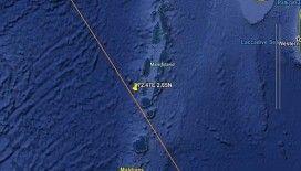 Çin roketi Long March 5B, Maldivler'in yakınına düştü