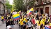 İspanya'dan Kolombiya'ya destek protestosu
