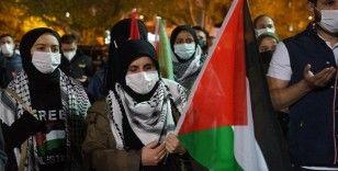 Kastamonu'da yüzlerce aracın düzenlediği konvoyla İsrail protesto edildi