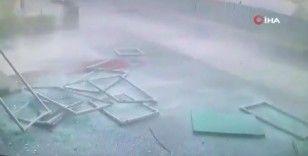 Pendik'te metro inşaatında şiddetli patlama anı kamerada