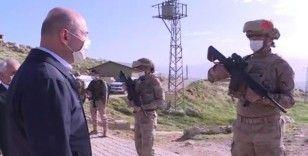 Bakan Soylu, Gabar üs bölgesindeki güvenlik güçlerini ziyaret etti