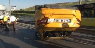 E-5 karayolunda üç otomobil zincirleme kazaya karıştı: 1 yaralı