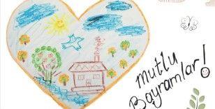 Bakan Yanık, çizdiği resmin yer aldığı bayram kartını devlet korumasındaki çocuklara gönderdi