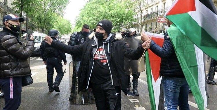 Paris'te Filistin'e destek gösterisi