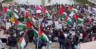 ABD'nin başkenti Washington'da binlerce kişi 'Filistin'e destek' gösterisi düzenledi