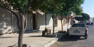 Suriye'nin Münbiç ilçesinde halk YPG/PKK'nın zorunlu askerlik uygulamasını kepenk kapatarak protesto etti