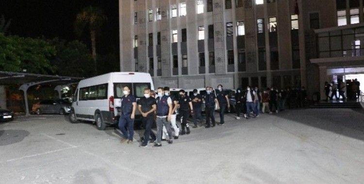 Mersin'de çete operasyonuna 11 tutuklama