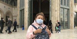 Taksim Camii'ne turistlerden yoğun ilgi