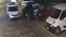 FETÖ soruşturması geçiren polisten kadına şiddet kamerada