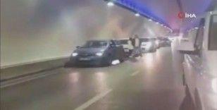 Avrasya Tüneli'nde araç yangını