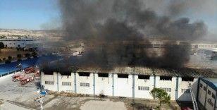 Nevresim fabrikası 8 saat sonra söndürüldü