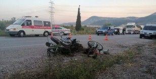 Soma'da karı-koca trafik kazasında hayatını kaybetti