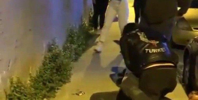 Şişli'de darp edilen kadını motosikletli grup kurtardı