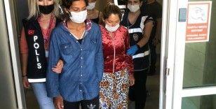 İkametteki çelik kasayı boşaltan 3 kadın şüpheli tutuklandı
