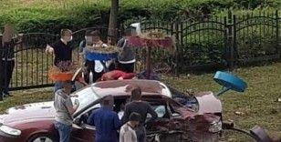 Giresun'da trafik kazası: 4 yaralı