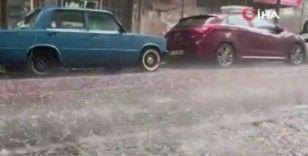 İstanbul'da dolu yağışı
