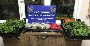 Kağıthane'de uyuşturucu madde satan karı kocaya polis baskını