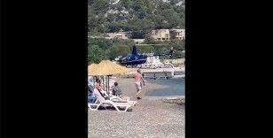 SHGM 'plaja iniş yapan helikopter'le ilgili işletme ve pilottan açıklama isteyecek