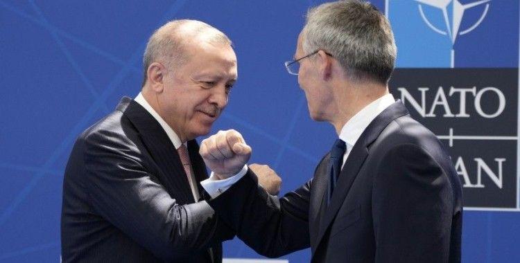 Cumhurbaşkanı Erdoğan, Stoltenberg tarafından resmi olarak karşılandı